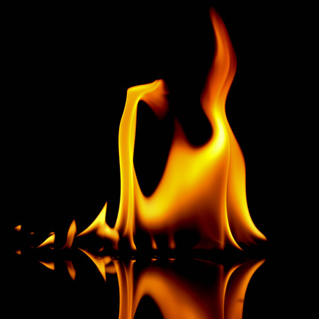 very hot fire abstract background. fire on the black background.