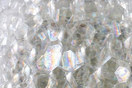 抽象的な背景白い石鹸の泡のテクスチャ。泡付きシャンプーフォーム