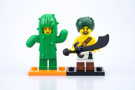 chiang mai, THAILAND - MAY 27, 2018: Lego mini figure toy, a privately held company based in Billund, Denmark. Redactioneel