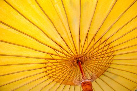 closeup of red handmade umbrella structure pattern