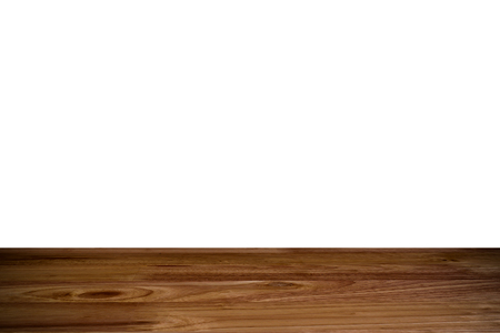 top wood table with white Background
