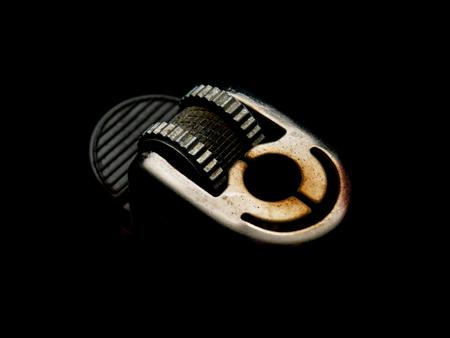 lighter Made of steel on black background