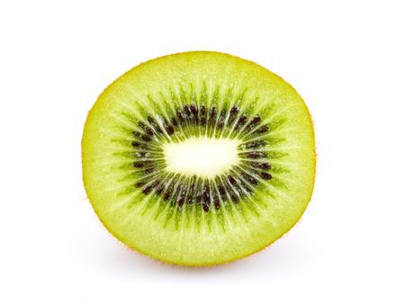 Slices kiwi fruit isolated on white background