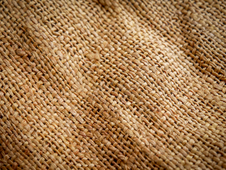 Close Up of brown sackcloth texture background. soft focus Stock Photo