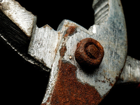 old pliers Made of rusted steel