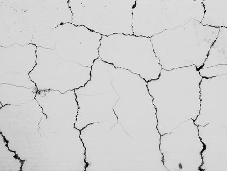 crack white concrete wall background