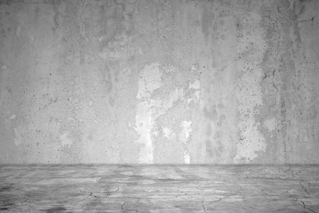 Dark room concrete wall background. interior concrete texture  wall and floor