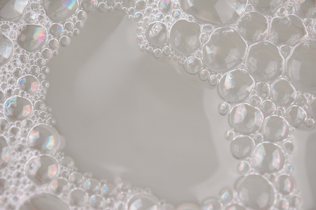 white foam texture abstract background closeup Reklamní fotografie