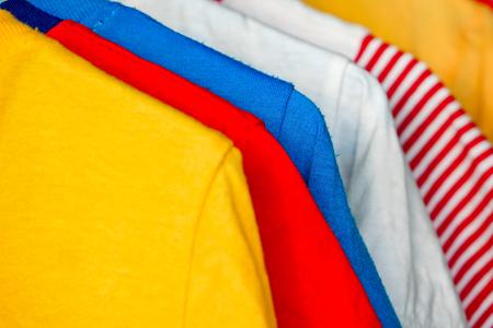 dry colorful clothes in the sun Foto de archivo