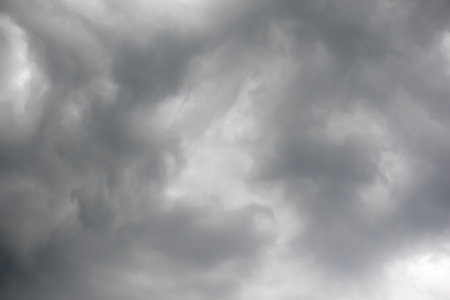 Heavy grey clouds in the sky before the rain - Image