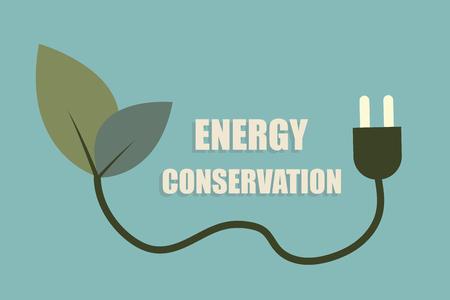 Environmental protection concept Saving energy, turning off lights Minimalist flat design Ilustrace