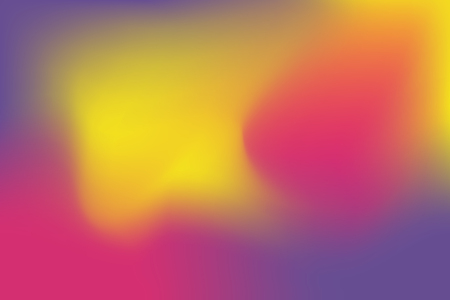 Abstract blurred gradient mesh background in bright rainbow colors. Colorful smooth banner template Illustration