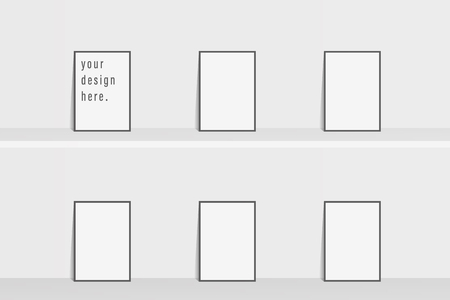 Brochure template flyer Simple white color background for business design