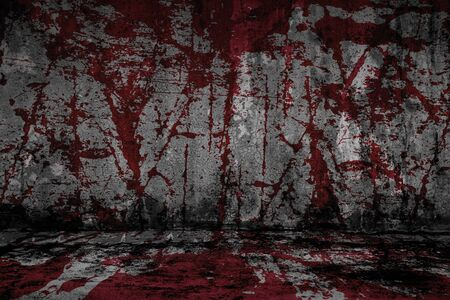 grunge halloween background with blood splash space Imagens