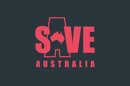 Save Australia concept.Australia wildfires infographics. Pray for Australia.  Vector illustration flat design