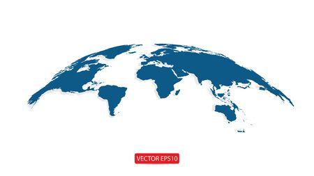 Globe world Map. Vector illustration