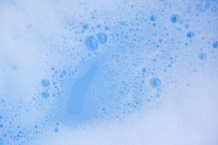 Abstrakte weiße Seifenschaum Textur des Hintergrundes. Shampooschaum mit Blasen