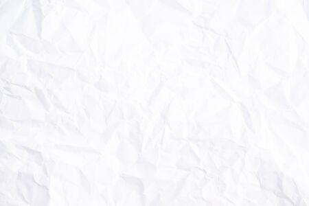Fond de texture de papier froissé blanc