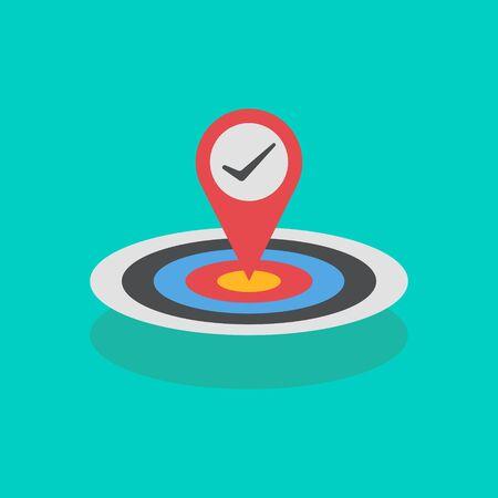 business goals achievement concept vector illustration