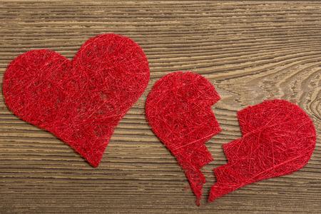 Les coeurs rouges Banque d'images - 42083043