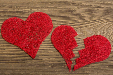 breakup: Red hearts