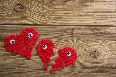 broken trust: Red hearts