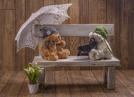 plush: Plush teddy bears Stock Photo
