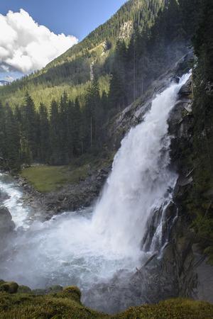 water fall: Krimml waterfalls in Austria
