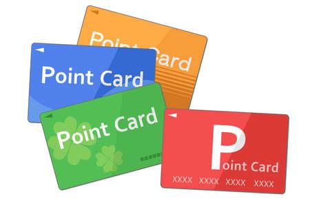 Illustration of various point cards (Vector illustration set) Ilustrace