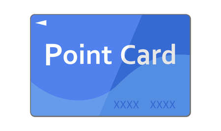 Illustration of a blue point card