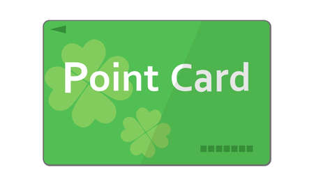 Illustration of a green point card Ilustrace