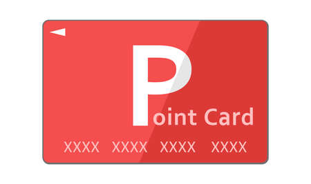 Illustration of a red point card