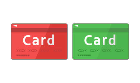 Illustration of simple red and green card Ilustrace