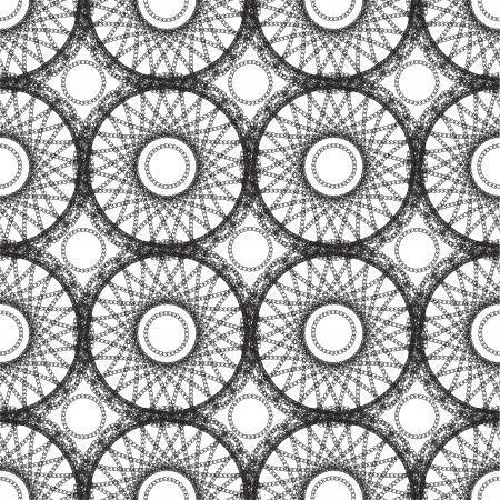 Naadloze: Abstract kantpatroon, naadloze achtergrond Stock Illustratie