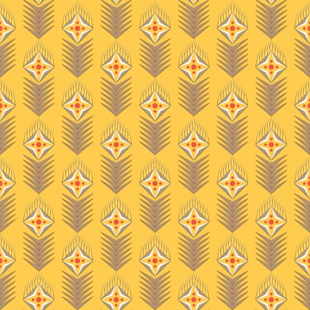 geometrical seamles pattern with flowers Vector
