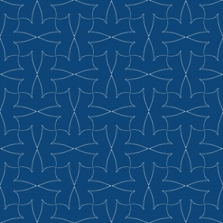 textile image: vintage pale pattern design with elegant calligraphic lines in navy blue colors, seamless background for a website or package paper