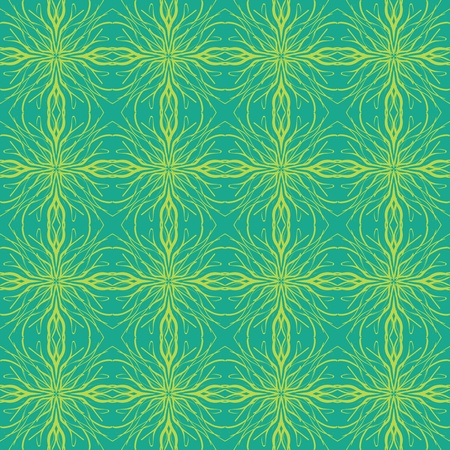 linear pattern with green color, spring fashion background or wrapping paper, seamless with tartan motifs and calligraphic lines