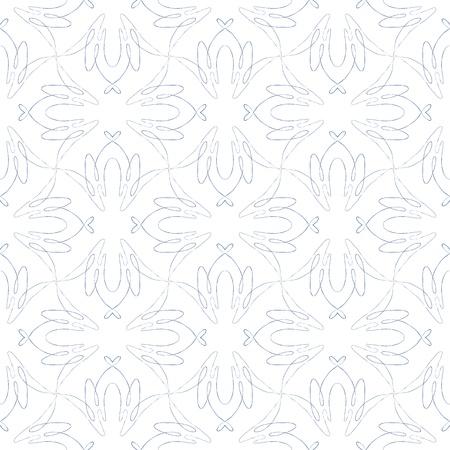 textile image: vintage seamless flourish pattern design Illustration