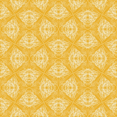 elegant calligraphic pattern , website background, holiday wrapping, seamless in baroque and rococo style, in yellow color Stock Vector - 17147257