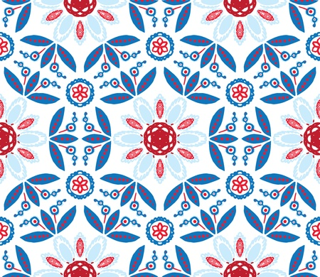 illustration of mandala, seamless pattern