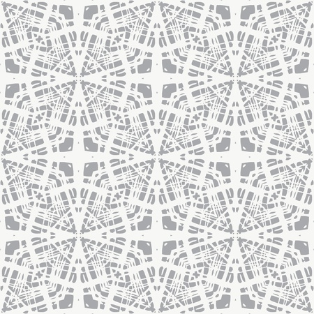 white lace on grey, clean and simple geometrical pattern, website background or fashionable textile, or holiday wrapping paper Ilustração
