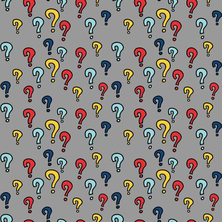 colorful pattern with question marks elements, seamless background photo