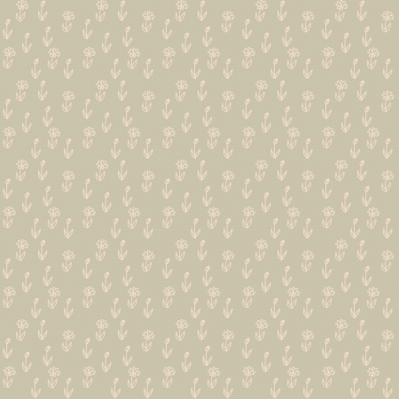 seamless pattern of little white flowers on brown field, vintage wallpaper, seamless texture or retro textile