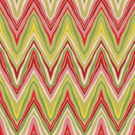 psychedelic linear zigzag pattern  Illustration