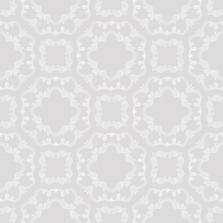 silver background: 1930s seamless pattern