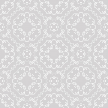 silver background: elegant seamless pattern, wedding wrapping Stock Photo