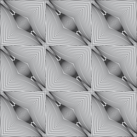 psychedelic black and white linear pattern Illusztráció
