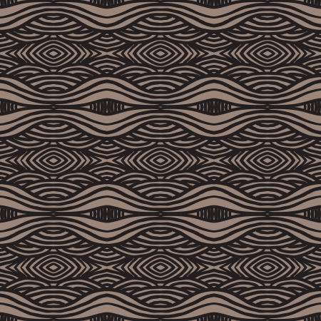 ethnic pattern, with thick lines and smooth waves Vector