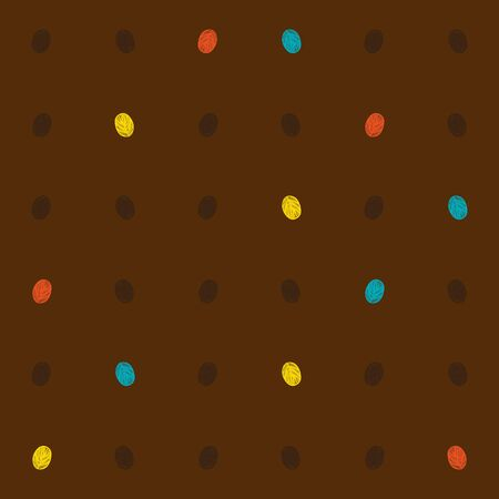 textile image: bright dots on brown, seamless pattern