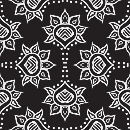 contoured: dise�o dibujado mano marroqu� tejido sin costuras Vectores